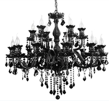 Crystal Chandeliers At Factory Direct Black Color Custom Italian Murano Style