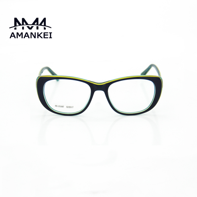 08ece992f89 Mix Color Acetate Best Womens Eyeglasses Online Discount Eyewear Frames  Female Oval Striped Optical Glasses Frame with Case
