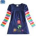 Novatx 2017 новый дизайн девушки цветка платья детская одежда горячие платья детские платья детская одежда с длинным рукавом платье
