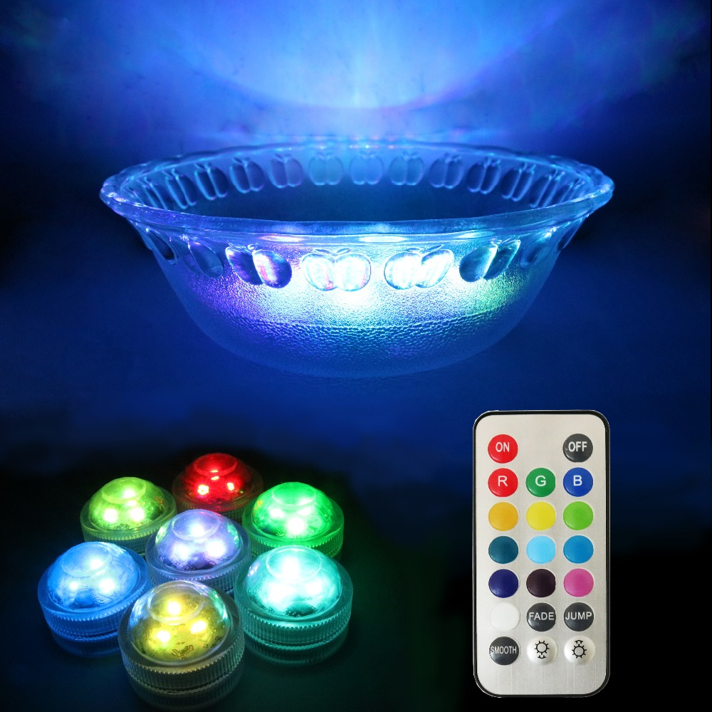 20PCS/Lot Free Shipping Wedding Party Decor Light Submersible led Tea light Remote Control Balloon LED Micro Led for centerpiece