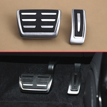 Estilo do carro Tampa Do Freio Gás Pedal Inoxidável Para Novo Audi A4 (B9) A5 Q5 Q7 (4 M) não-Deslizamento de Aço Pé Acelerador Pad Acessórios