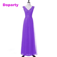 Doparty plus size Cheap Imported Formal lilac lace engagement Mother of the Bride Long Evening Elegant 2018 Gown for Women XS4
