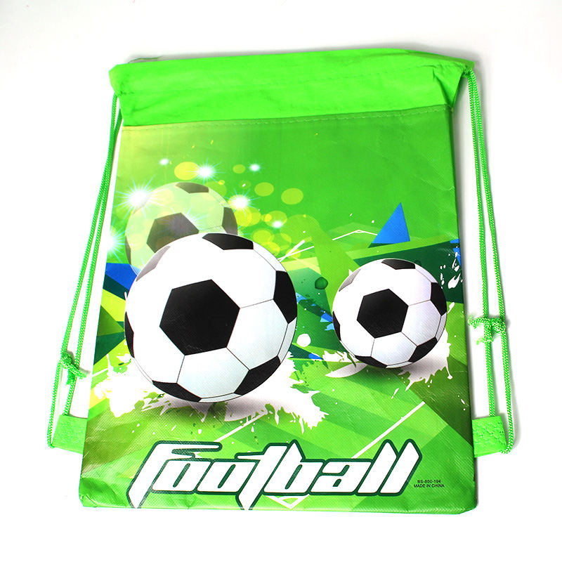 1Pcs Green Football Theme Boys Favors Birthday Party Non-Woven Fabric Backpack Drawstring Bags Kids Decoration Supplies1Pcs Green Football Theme Boys Favors Birthday Party Non-Woven Fabric Backpack Drawstring Bags Kids Decoration Supplies