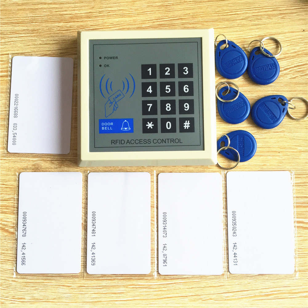 125khz 2000 users Entry Lock Door Access Control RFID Keypad free 5pcs keyfobs 5pcs rfid cards diysecur magnetic lock door lock 125khz rfid password keypad access control system security kit for home office