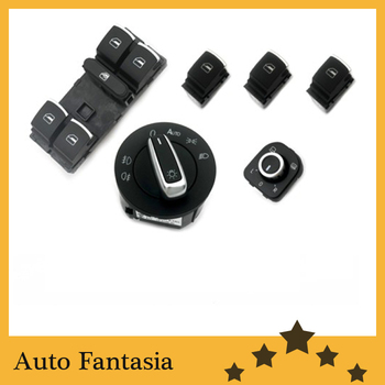 Chrome Interior Switches Combo (Auto Coming Home) for Volkswagen Golf MK5 -free shipping