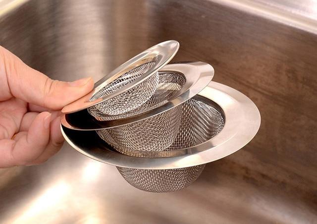 NewNew Home Kitchen Sink Drain Strainer Stainless Steel Mesh Basket  Strainer durable ensure clog free kitchen drains excessive-in Colanders &  ...