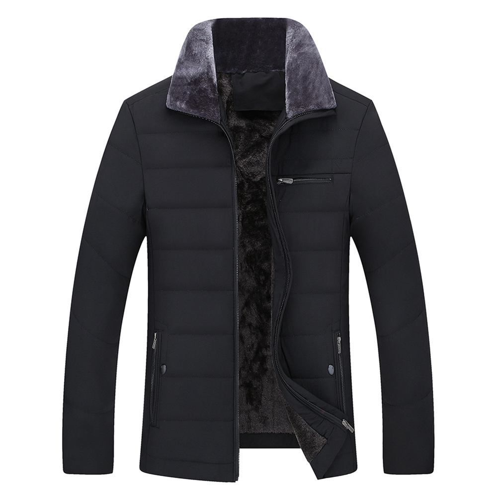 Speed Hiker   Parka   Men Winter Jacket Cotton Padded Warm thicken Short coat Clothing Stand Collar Male Solid coat 4XL