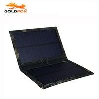 Portátil 3 W Plegable Impermeable Plegable Panel Solar Cargador de Batería Banco de la Energía para el Teléfono Móvil de Puerto USB Al Aire Libre