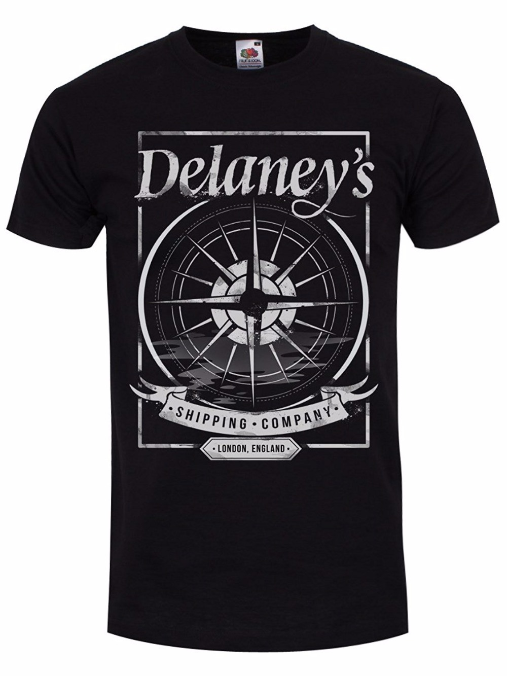 Shirt Shop O-Neck Novelty Short Sleeve Mens Delaneys Shipping Company T-Shirt Black Tees For Men