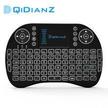 Mini teclado sem fio i8 com touchpad qwerty, 2.4g, com receptor usb, controle remoto para smart tv box, android, jogar jogo pc x96