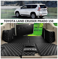 Cargo Liner For TOYOTA LAND CRUISER PRADO 150 2010 2019 Trunk Mats Surrounded by all Carpets Mat High Quality Embroidery Leather