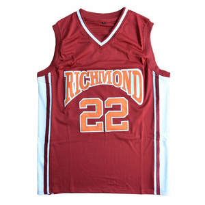 76c3c1e77 Double Stitched Jersey Red Color Timo Cruz 22 Richmond Oilers Home  Basketball Jersey