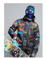 2017 male color matching ski jacket mens skiwear cycling snowboarding skiing jacket anorak waterproof 10K windproof breathable