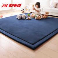 Новые толстые коврики для игр, коралловый флис, одеяло, ковер для детей, для ползания, татами, коврики, подушка, матрас для спальни, детские иг...