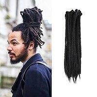 African Hairstyle 5 Stand Synthetic Dreadlocks Hair Crochet Braids Marley Hair Kanekalon Crochet Braiding Hair DIFEI