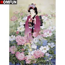 HOMFUN Full Square/Round Drill 5D DIY Diamond Painting Flower beauty Embroidery Cross Stitch 5D Home Decor Gift A18084 homfun full square round drill 5d diy diamond painting beauty flower embroidery cross stitch 3d home decor gift a13396