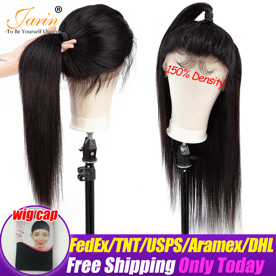 150 Density Malaysia Straight Hair 360 Lace Frontal Wig Human Hair Wigs Black For Women Remy