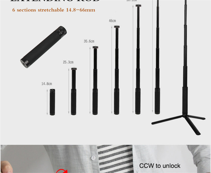 OSMO Pocket Smartphone Fixing Bracket Stand Clamp Extending Rod Tripod for DJI OSMO POCKET Gimbal Accessories 13