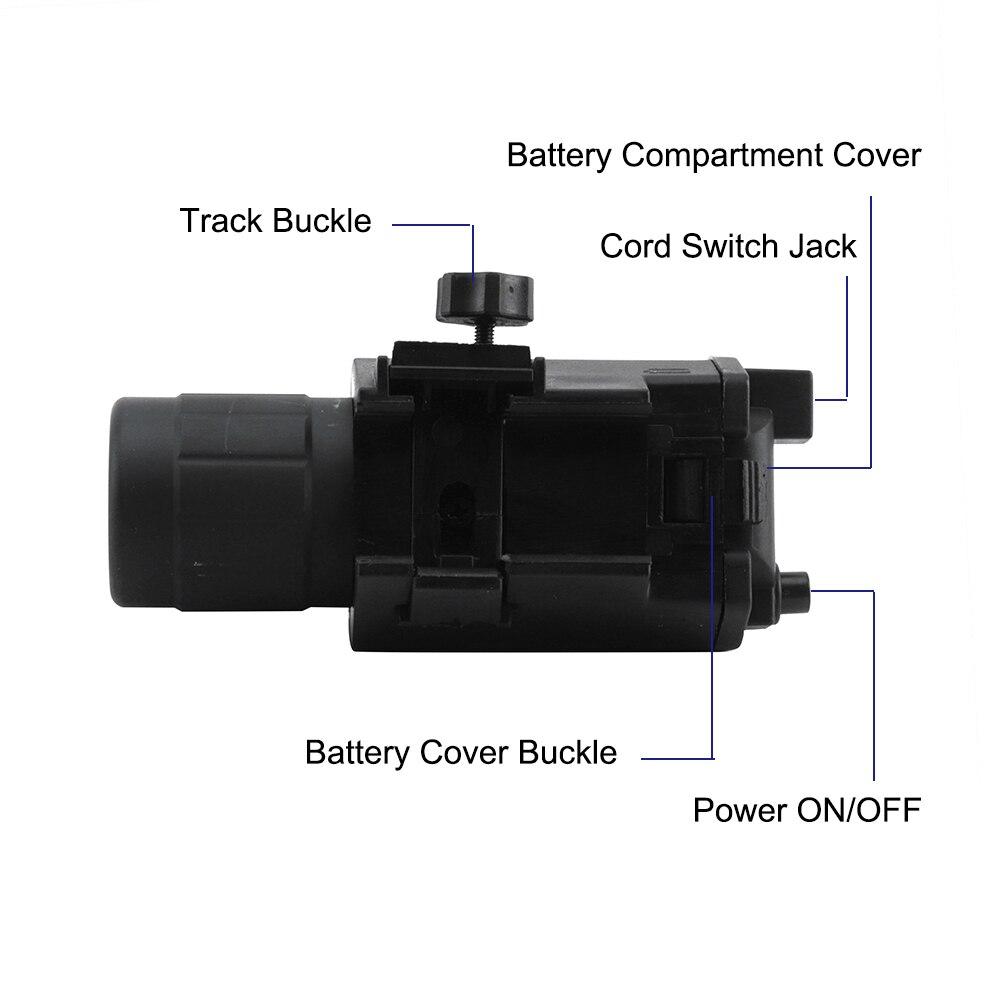 BORUiT Red Laser Sight Hunting Combo 2 in 1 LED Flashlight Tactical Flashlight Hunting Flash Light Torch Lamp Gun Mount