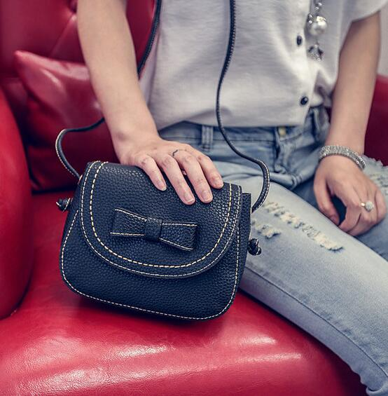 2016 summer new bow mini small square package quality PU leather women bag wild fashion female bag Shoulder Messenger Phone bag  2016 summer new fashion female bag embossed quality pu leather women bag handbag chain lock shoulder messenger small bag mini
