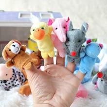 Animal Finger Store Panda Rabbit-Toys Educational Children for Stuffed 10pcs/Set