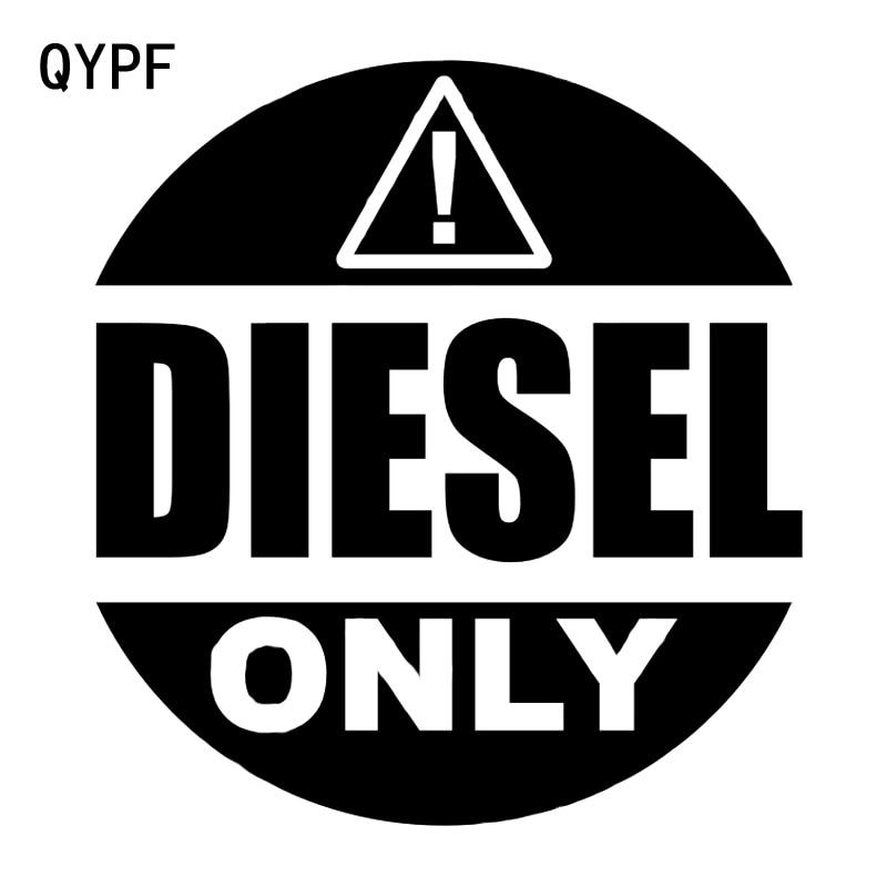 QYPF 13.1CM14.1CM Warning Mark DIESEL ONLY Car Sticker Black/Silver Vinyl Decoration S9-2236
