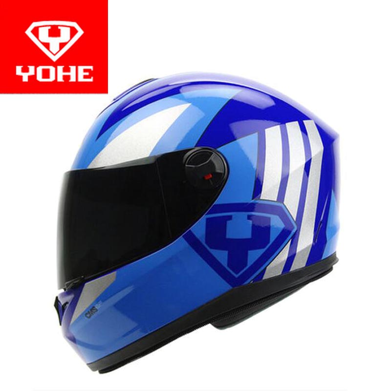 2017 New YOHE Full Face motorcycle helmet motocross motorbike helmets made of ABS PC Visor winter warm four season Model YH966 2018 summer new double lenses yohe full face motorcycle helmet model yh 967 made of abs and pc lens visor have 8 kinds of colors