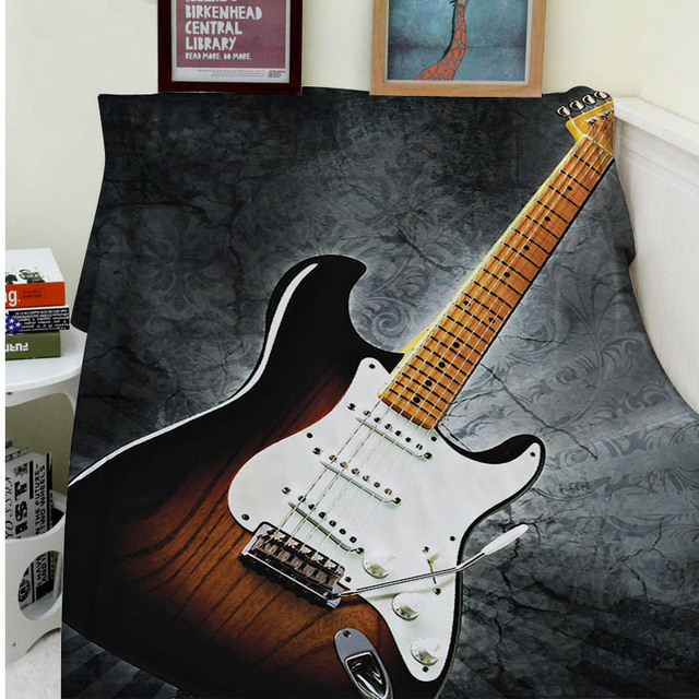Blankets Comfort Warmth Soft Cozy Air Conditioning Easy Care Machine Wash Electric Guitar Music