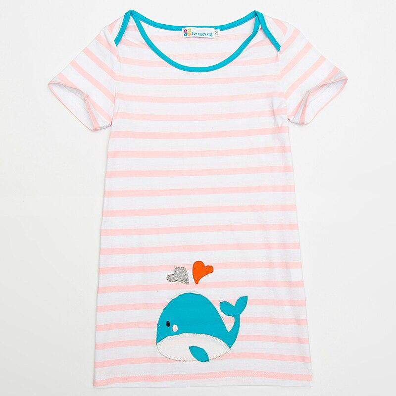 Детская одежда платья для девочек 2018 милые короткий рукав Футболка Платье Костюм для маленьких детей с рисунком животных Детские Костюмы 1-6Years