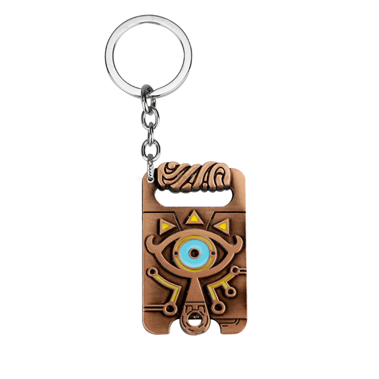 ZRM модное Ювелирное Украшение легенда о Зельде Дыхание Дикого брелока медная игра Аниме большие глаза винтажный металлический брелок и ожерелье - Цвет: Key Chain