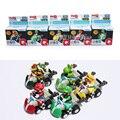 Jogo Bowser Luigi Waluigi Yoshi Super Mario bros Kart carro puxar carros de brinquedos figura 5 pçs/set