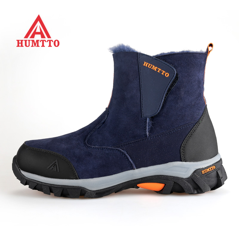 Famous Brand Men's Winter Outdoor Hiking Trekking Boots Shoes For Men Warm Leather Climbing Mountain Hunting Boots Man Quality yin qi shi man winter outdoor shoes hiking camping trip high top hiking boots cow leather durable female plush warm outdoor boot