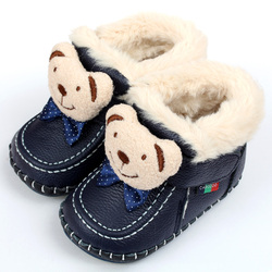Animal Super Warm Winter Baby Boots Baby Boots Soft Leather Baby Shoes Moccasins Infant Kids Girls Boys First Walkers Shoes
