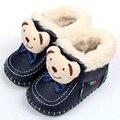 Animales Súper Caliente Del Invierno Cargadores Del Bebé Bebé Botas de Bebé de Cuero Suaves Mocasines Zapatos de Bebé Niños Niñas niños Primero Zapatos de Los Caminante