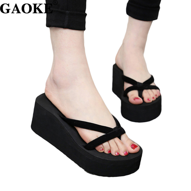 5c2d7ac4f543cd 2018 Summer Sandals Wedges Women Slip Flip Flops Beach Sandals Shoes  Fashionable Casual Sandals Female Ladies