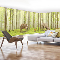QINGCHUN Custom Fabric Textile Wallcoverings For Walls Cloth Murals Matt Silk For Living Room Forest Animal