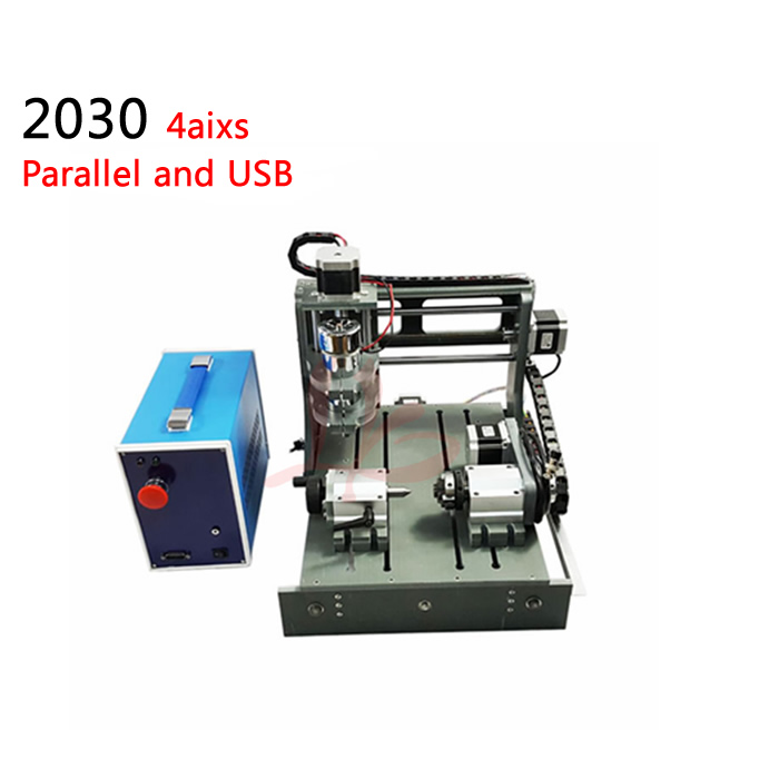 CNC USB Controller iy mini CNC machine 300w spindle engraving machine 4axis pcb Milling machine with Parallel and USB port mini cnc router machine 2030 cnc milling machine with 4axis for pcb wood parallel port