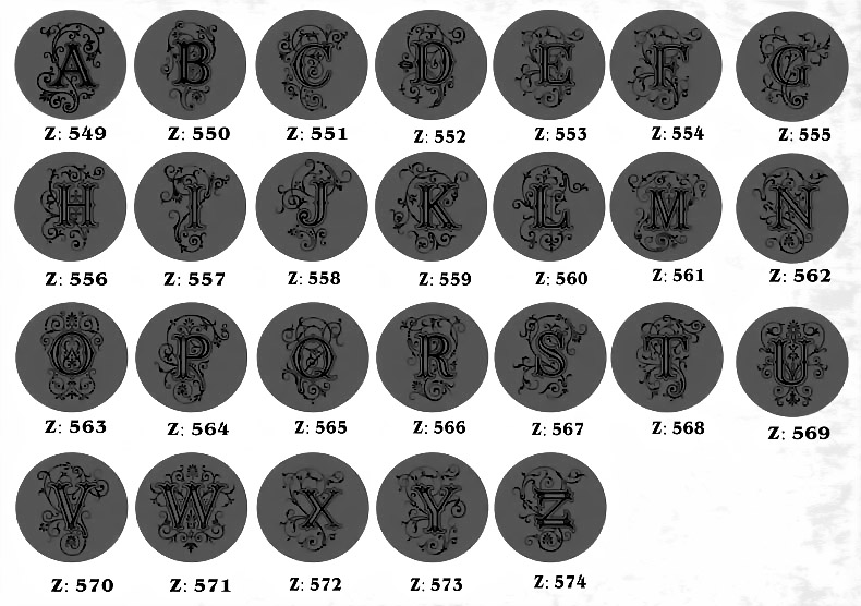 Letter stamp 1-12