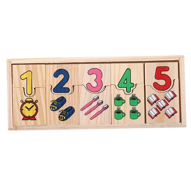Wooden Math Domino Set