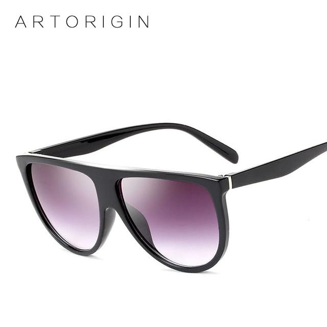 ARTORIGIN Moda Óculos De Sol Das Mulheres Marca Designer Sombra Óculos Flat  Top Fino Feminino de 726d67f209