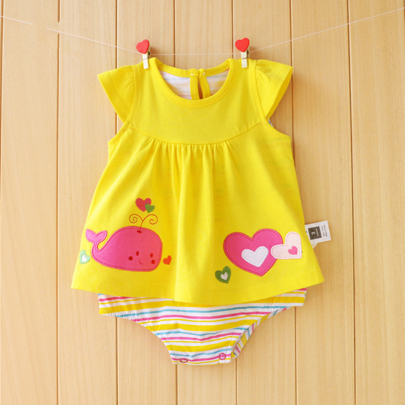 Baby Girl Clothes Summer Dress Baby Rompers Roupas Bebes Flower Newborn Girl Dress Baby Clothes Cotton Infant Jumpsuits Short
