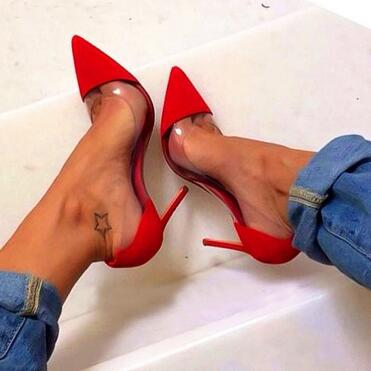 10 Pic Cuir Hauts Parti Pic Pvc Mariage En Chaussures Pompes Pointu Verni Plexi Mujer Cm Sandales Talons as Transparent Femme Zapatos As De Bout Oq8wZ1Fx