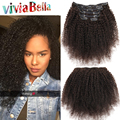 Kinky Curly Clip In Human Hair Extensions 7a Afro Kinky Curly Clip Ins 7pcs/set African American Clip In Human Hair Extensions