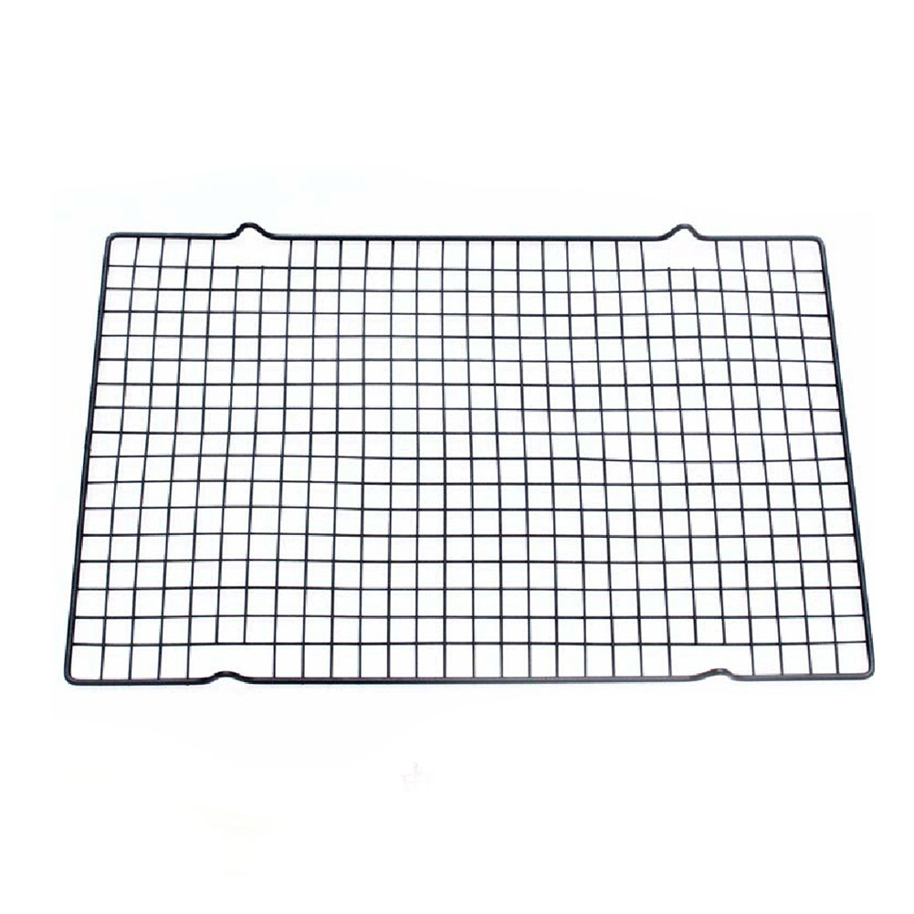 25 5 40cm Black Rectangular Metal Mesh Nonstick Cake Cooling Rack Net For Pies And Cakes