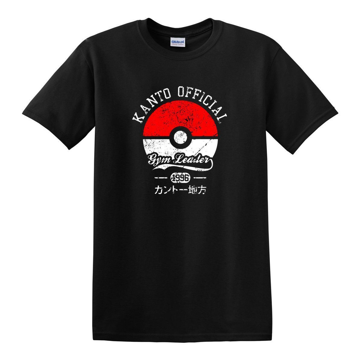 Kanto Gymer Leader Pokemon Go Trainer Game T-shirt New Fashion Mens Short Sleeve T Shirt Cotton Hot Cheap MenS