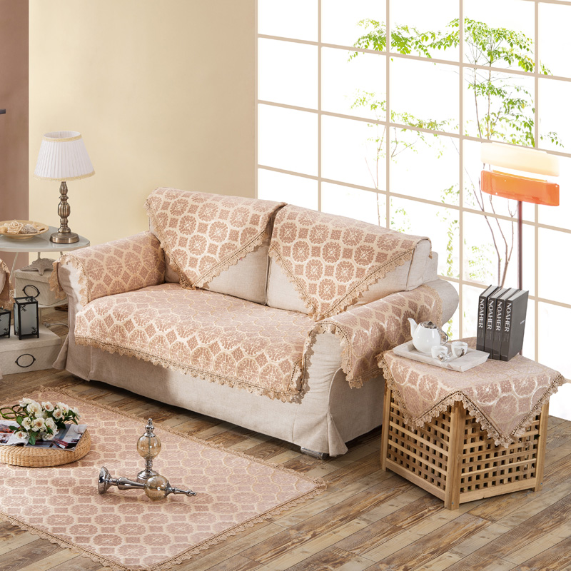 Light Tan Chenille Sofa Towel For Living Roomhome Decor Sectional Coveranti