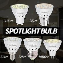 E27 Spot Led Bulb GU10 220V Spotlight MR16 SMD 2835 Corn Lamp 48 60 80leds E14 Foco Light 3W 5W 7W B22 Chandelier