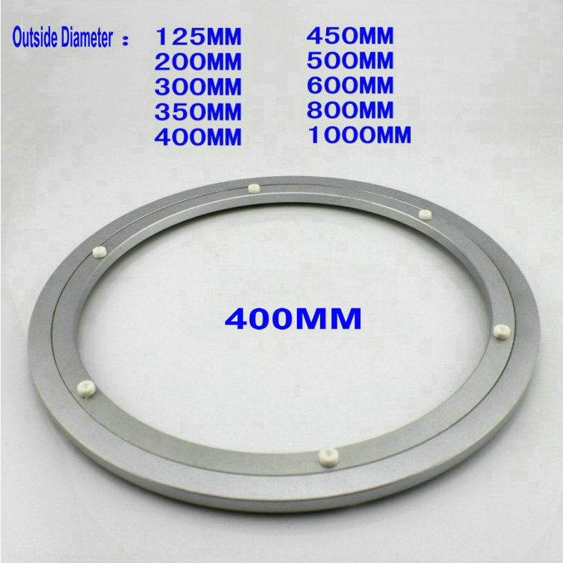H H400 Outside Dia 400MM (16 Inch)  Quiet and Smooth Solid Aluminium Lazy Susan Turntable Base