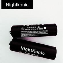 6 PCS/LOT aa battery  NightKonic 1.2V NI-MH AA Rechargeable Battery BLACK цена