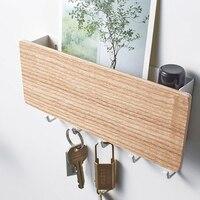 Пластиковый держатель для ключей настенный органайзер для хранения дверей домашние декоративные крючки стойка для письма мультифункциона...